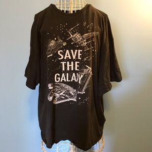 Star Wars Save The Galaxy Vintage Graphic Tee